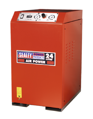Sealey SAC82425VLN Compressor 24ltr V-Twin Direct Drive 2.5hp Cabinet Low Noise